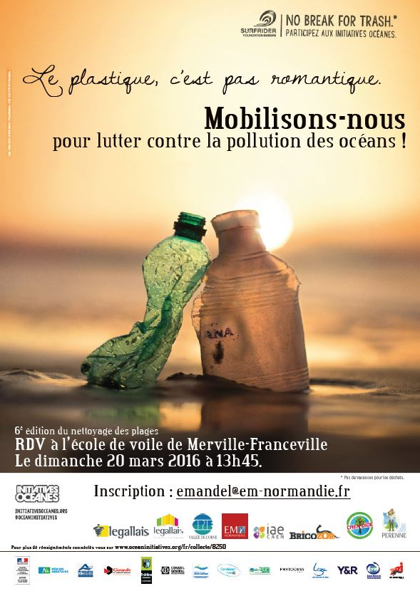 Ban Ocean Pollution : EM Normandie joins the Surfrider Foundation Europe action