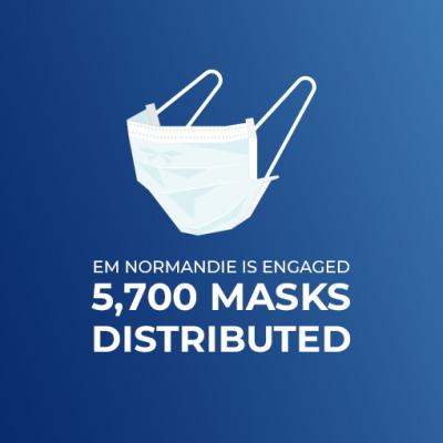 5,700 masks distributed