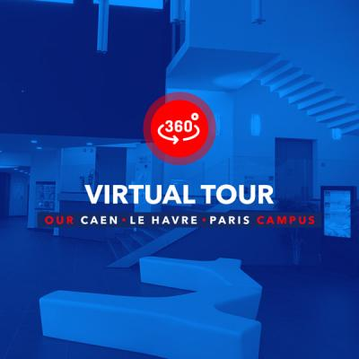 Caen, Le Havre, Paris campus virtual tour