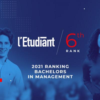 EM Normandie Business School Bachelor's Degree ranked 6th in L'Etudiant